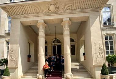 SILF – Visite du groupe A à l'hôtel Beauharnais