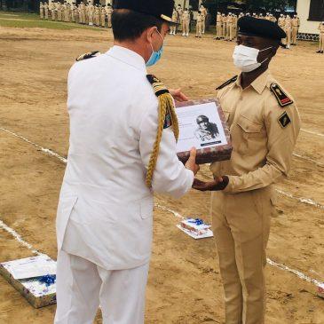 Remise du prix Frère d'Armes à l'École militaire préparatoire Général Leclerc de Brazzaville
