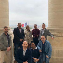 Stagiaires internationaux de l'École de Guerre en visite au Panthéon